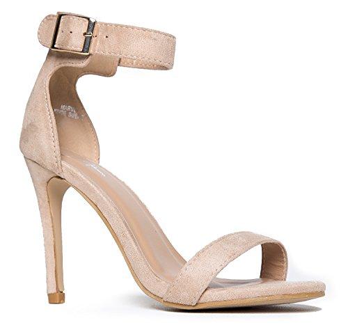 J. Adams Marvel High Heel - Comfortable Ankle Strap Strappy Sandal Dress Pump