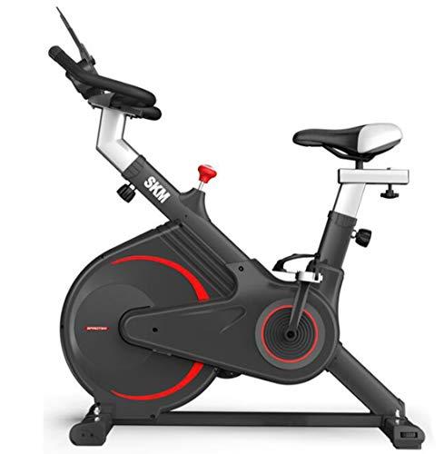 Ouya Bicicleta de Ejercicio Bicicleta de Ciclismo de Interior Resistencia Ajustable con Correa de transmisión - Asiento cómodo, Pantalla LCD y Soporte para iPad Equipo de Gimnasio en casa,Negro