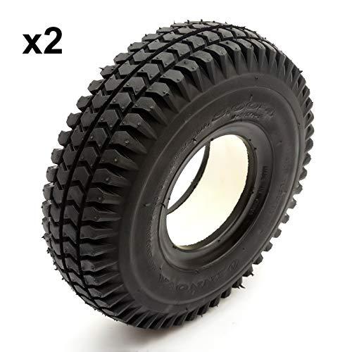 2 Concentrado PU Neumático 260x85 4 Inch Negro Punción Prueba Para Scooter Movilidad Bloque Diseño