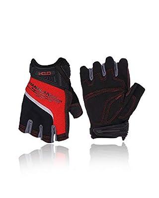 HANDLANDY Fingerless Work Gloves for Men,Half Finger working Glove Grip Shock-Absorbing Breathable Uwrist TPR Anti-collision Gloves for Mens & Women(L)