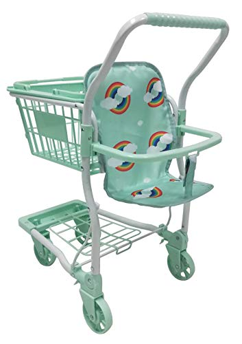 Roma Rupert Toy Shopping Trolley Suitable from 24 months - mint Roma The Rupert shopping trolley measures 62cm from the floor to the handle. Removable Shopping basket Available in primrose or mint - Unique Rainbow Design 1