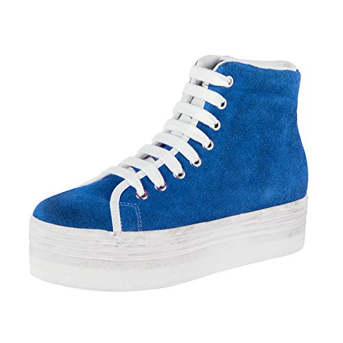 Jeffrey Campbell JC Play by Scarpe Donna Sneakers Zeppa HOMG Suede Wash tg.41