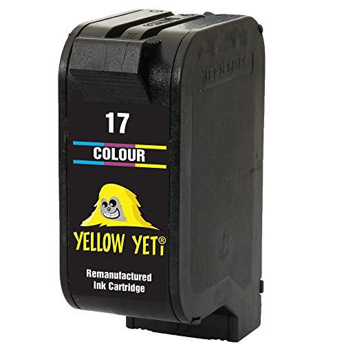 Yellow Yeti Ersatz für HP 17 Druckerpatrone Farbe kompatibel für HP Deskjet 816c 825c 827 840c 841c 842c 843c 845c 845cvr 848c [3 Jahre Garantie]
