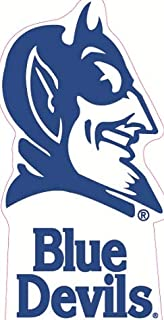 7 Inch Blue Devils Devil Logo Decal Duke University Removable Wall Sticker Art NCAA Home Room Decor 3 by 7 Inches