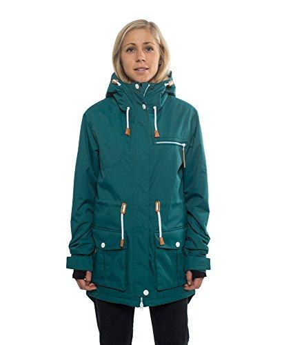 Colour Wear Damen Jacke UP Parka, Flaschengrün, M