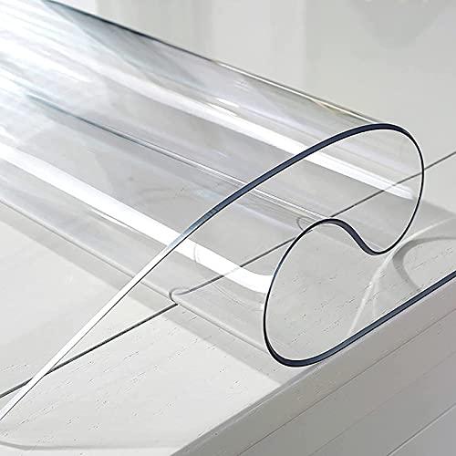 YQJ Mantel Transparente Grueso 3mm,Rectangular Impermeable De Plástico Transparente Manteles De Mesa,PVC Mantel Protector Impermeable,100x170cm/39.4x67in