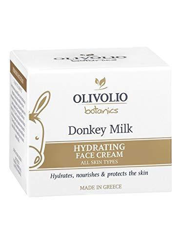 Olivolio botanics 95% natürliche Feuchtigkeitscreme mit Eselsmilch und Hyaluronsäure - 50 ml