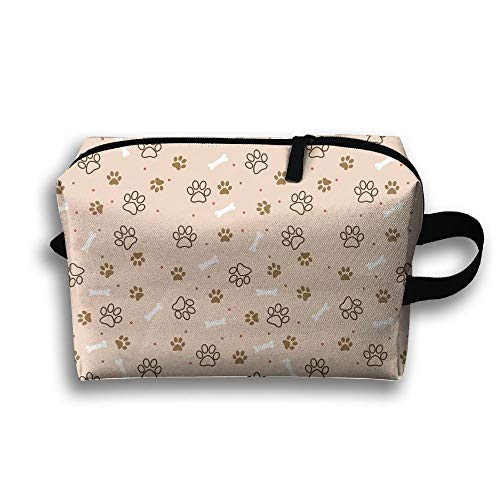 Gato Hueso de Perro Huella Bolsa de Viaje Buggy Bolsa de artículos de tocador Bolsa de artículos de tocador Happy Game Monkey Printing Zipper Clutch Bag Travel Bag