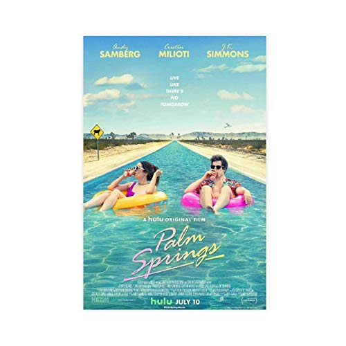 Movie Palm Springs Canvas Poster Bedroom Decor Sports Landscape Office Room Decor Gift Unframe:24×36inch(60×90cm)