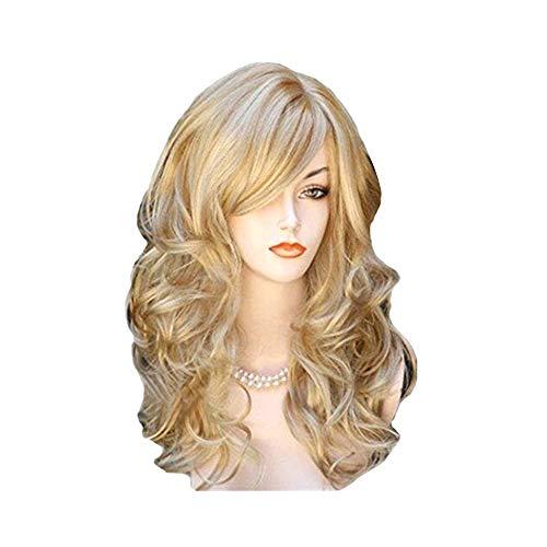 Sunbaca KW-004 Perucas de fibra sintética de alta temperatura resistente ao calor peruca longa peruca de cabelo para mulheres perucas onduladas de cabelo encaracolado completo