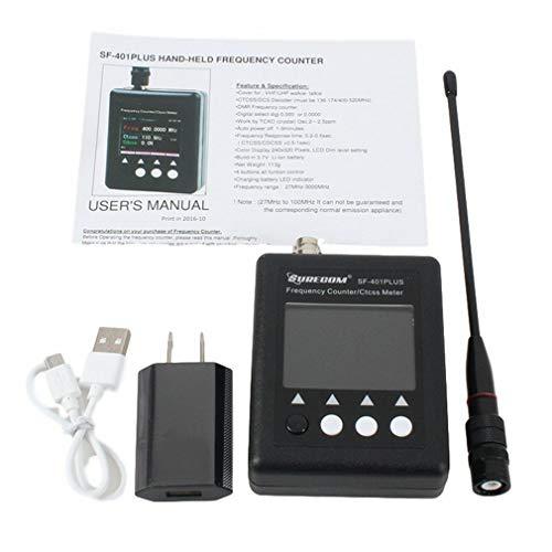 SF401-PLUS Contatore di frequenza Portatile Contatore palmare Walkie Talkie (Nero)