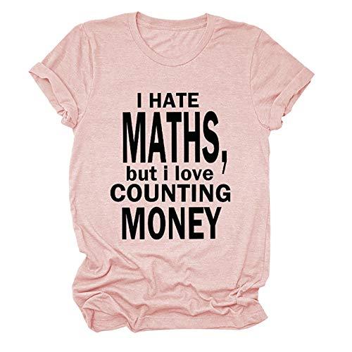 sky Cloud Odio Las matemáticas, Pero me Encanta Contar Dinero Funny Rich Rich Sweat's Sweat's Sweatshirt, la Mejor opción (Color : Pink, Size : XX-Large)
