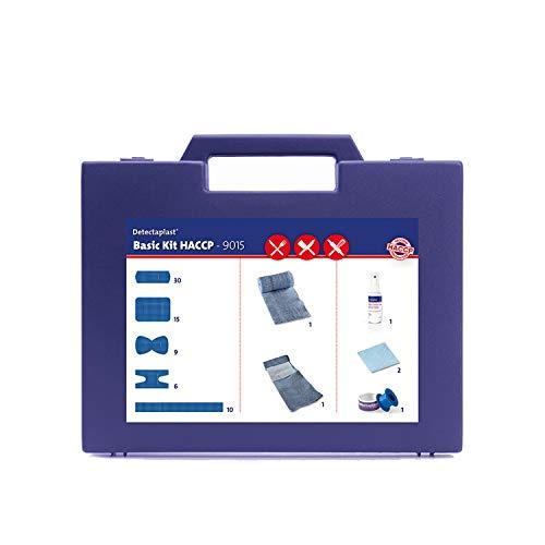 Detectaplast Verbandskasten für die Gastronomie, Erste Hilfe Set für die Behandlung von Wunden, tragbare Reiseapotheke im Koffer mit Pflaster, Verband, Tape, 76 Teile