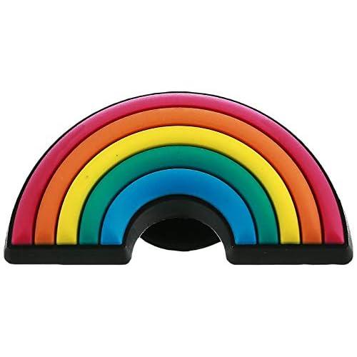 Crocs Jibbitz Symbols Shoe Charm, Decorazione di scarpe Rainbow, Multicolore