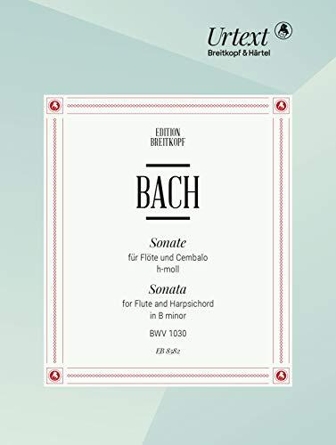Sonate h-moll BWV 1030 für Flöte, Cembalo - Breitkopf Urtext (EB 8582)