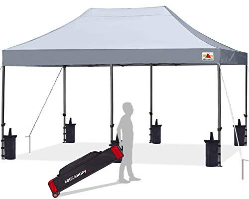 ABCCANOPY Patio Pop Up Canopy Tent 10x20 Commercial-Series(Gray)
