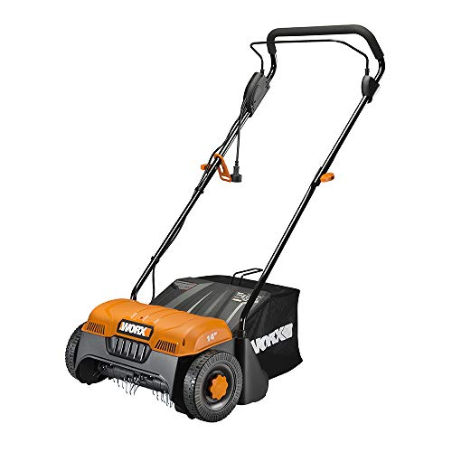 WORX WG850 12 Amp 14' Corded Electric Dethatcher, Black