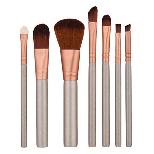 Frcolor Brosse cosmétique 7 pièces pinceau de maquillage ensemble professionnel visage Eyeliner fard à joues Contour Foundation brosses cosmétiques pour liquide