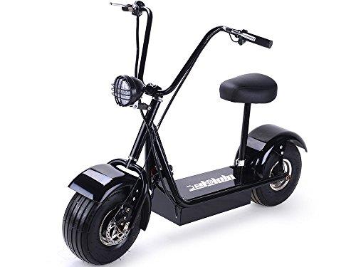 SAY YEAH Electric Scooter 2 Wheel Mini Fatboy Bike Fat Tire & Big Wheel Scooter