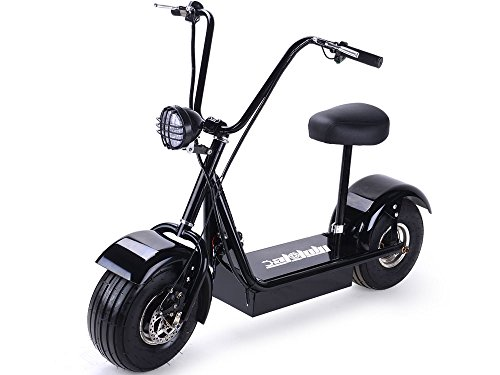 SAY YEAH Electric Scooter 2 Wheel Mini Fatboy Bike Fat Tire & Big Wheel Scooter 800W E Bicycle for Boys and Girls,LED Light,Seat Adjustable