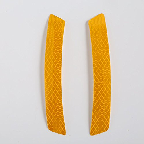 Bolange 2ST Gelb Auto-Rad-Augenbrauen-Reflektor-Streifen Auto Warn Zubehör 14 * 2.3CM