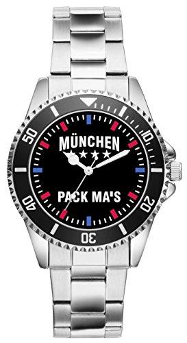 München Geschenk Artikel Idee Fan Uhr 2494