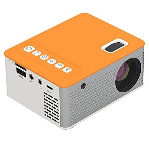 WUYANJUN Mini proyector, Video de Cine en casa Multimedia portátil, Video-proyector, Full HD 1080p, TF/USB Entrada/AV Input/OUTPUTE DE AURICURADAS / 5V 2A Input