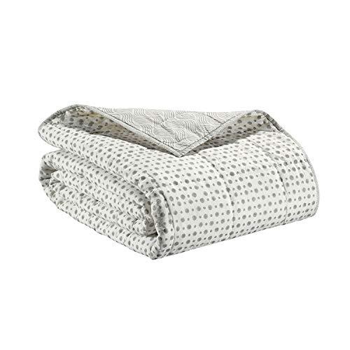 Vivaraise - Jeté de lit et de canapé AMA – Couverture d'appoint, Couette légère réversible – 100% Coton, Doux et Chaud