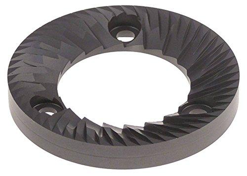 Mazzer maalschijvenpaar voor koffiemolen LUX D1 ø 61 mm bevestiging 45 mm boring ø 9 mm rechts D1 61 mm hoogte 8,4 mm binnen 35 mm
