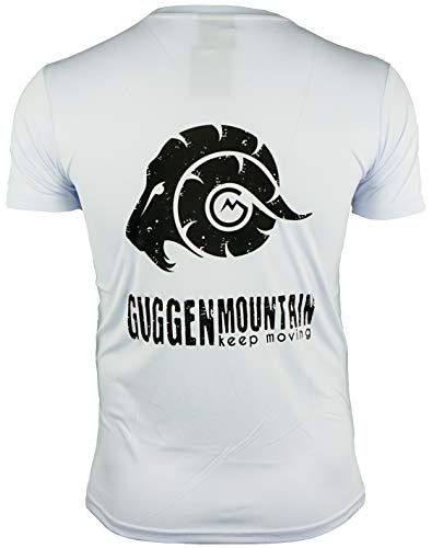 GUGGEN Mountain Chemise Fonctionnelle pour Hommes sous-Vêtements T-Shirt De Plein Air Sportives Séchage Rapide Manches Courtes Perméable À L'air Blanc XL