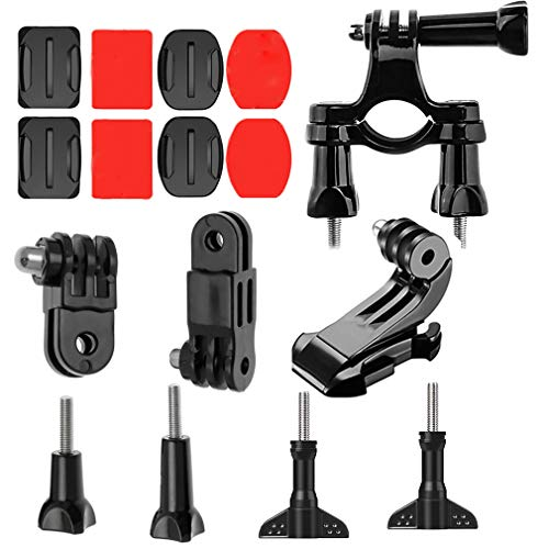 Snado Adjustable Flat Multifunction Mount kit and Adhesive Mounts to Your Helmet/Bike/Board/Car- Compatible with GoPro, DJI OSMO Cameras Accessories