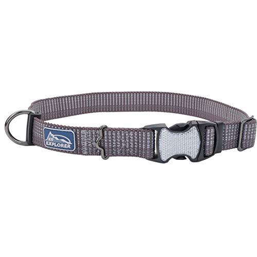 Coastal - K-9 Explorer - Brights Reflective Adjustable Dog Collar, Mountain, 5/8' x 12'-18'