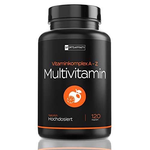 Multivitamin Kapseln [Hochdosiert - Hergestellt in Deutschland] - Multivitamin Komplex Tabletten - Alle Wertvollen A-Z Vitamine und Mineralstoffe - ohne Künstliche Zusätze