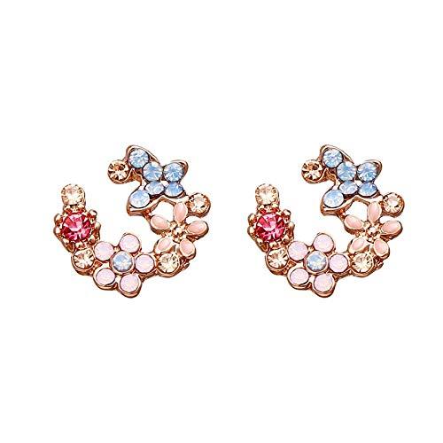 jieGorge Small Fresh Earrings Women's Temperament Simple Garland Earrings Petal Earrings , Earrings , Products for Xmas Day (J)