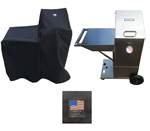Enterprises 700-701 Canvas Cover 5004 Full Length Custom Made for 4 Gallon Deep Fryer with Side CART Shelf Compatible with Bayou Classic Made in The USA
