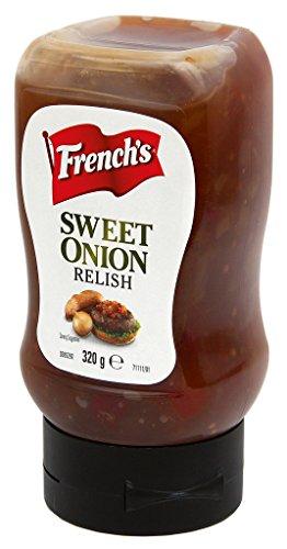 French\'s Sweet Onion Relish (1 Flasche) 320g - ideal zu Burger, Hot Dogs und Sandwiches