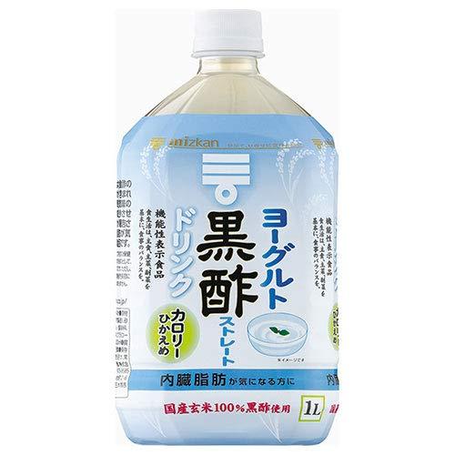 ミツカン ヨーグルト黒酢ストレート 1L×24本 PET