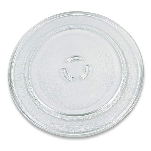 Drehteller für Mikrowelle 32,5 cm Mikrowellenteller 325 mm Glasteller Drehteller Ersatz Teller Glasplatte Glasdrehteller für Mikrowellen