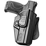 M&P 9MM Holster, OWB Paddle Holster Fit Smith & Wesson M&P 9MM/.40 M2.0 Full Size, M&P 9MM/.40 M2.0 Compact Pistol. Outside Waistband Carry Holster, 360 Adjustable/Index Finger Release- Right Hand