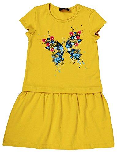 Catimini Robe 2 Vestito, Giallo (Giallo Medio), 7 Anni Bambina