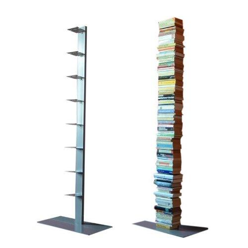 Radius Design booksbaum Single Stand Gross Silber, 3tlg. Best.aus: Halterung + Fuß + Einlegeböden [W]