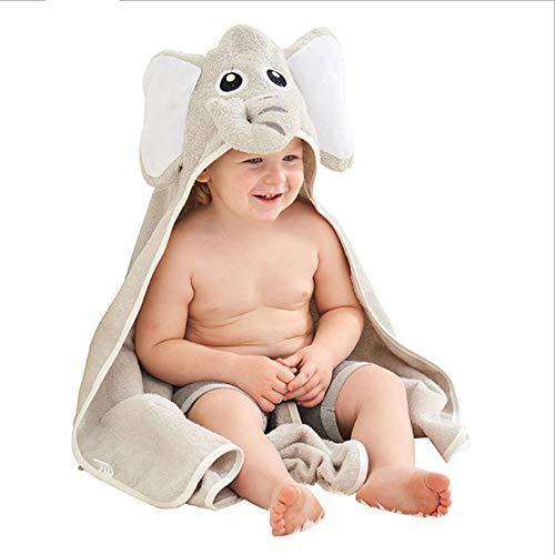 Baby Hooded badhanddoeken, effen kleur Elephant Child Cape Cotton Infant handdoek voor Boy Girl Zuigelingsbaby