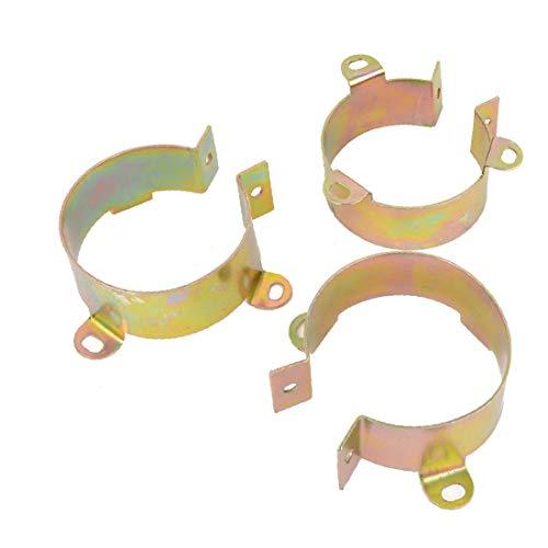 X-Dr 3 Stücke 50mm-60mm Durchmesser Drainagerohr Auspuffrohrbefestigung Cinch Clamp Bracket Unterstützung Tubbing Verschluss Clip (71064b8077ccf66ccb29f8be17a4f27a)