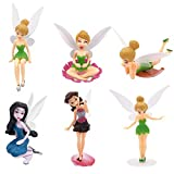 ZSWQ 6Pcs Flower Fairy Pixie, Mini fairy statue,Micro landscape DIY statue Fly Wing Family Miniature Flower Fairy Girls Dollhouse Garden Ornament Accessories