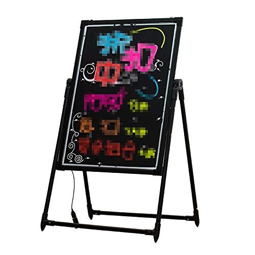 LED Schrijven Message Board, Verlicht uitwisbare Neon Effect Restaurant Menu Sign, 7 kleuren Knippert Mode (Color : Black, Size : 60x110cm)
