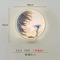 2020 Latest Design インクの風景のあなたのベッドの壁クラシックソファーベッドルームの壁ランプ中国の周りの単一の創造LEDランプの部屋を塗ります,VS