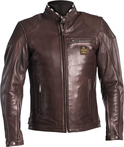 Helstons Road Motorradjacke, Leder, naturfarben, perforiert, Braun, 4XL