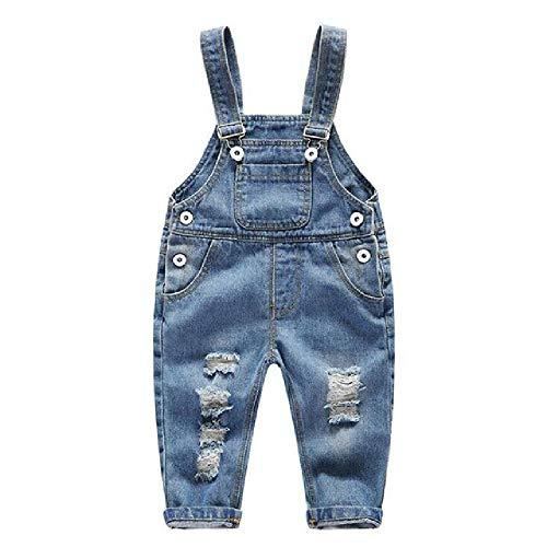 NOBRAND niños niñas Pantalones de Mezclilla Pantalones Infantiles Pantalones de Primavera aflojar Pantalones de niños para niños de 0-4 años Guardapolvos de Mezclilla
