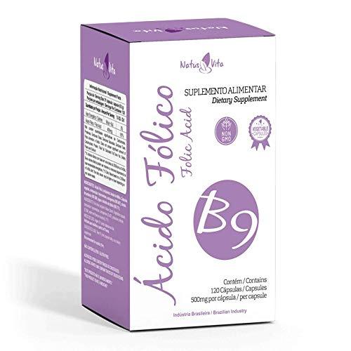 Ácido Fólico. 120 Cápsulas vegetais - Natusvita
