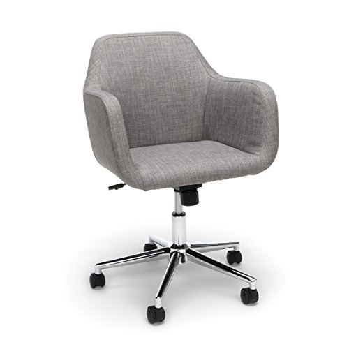 OFM Essentials Collection Upholstered Home Office Desk Chair, in Gray chair gaming gray